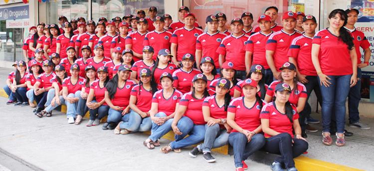 Personal Camiseta roja colombia